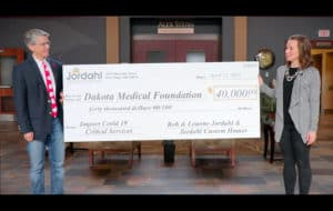 Jordahl Homes Contributes to Critical Services Fund